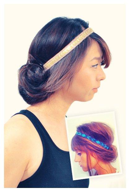 Frisur Ideen - Haarreifen Versteckspiel