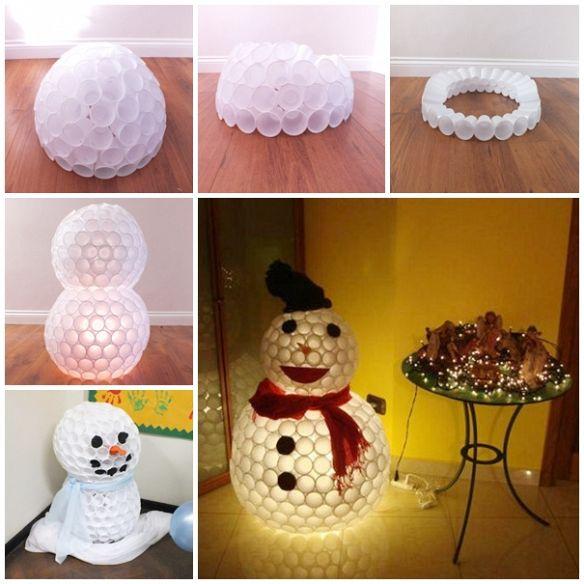DIY Projekte zu Weihnachten- Schneemann