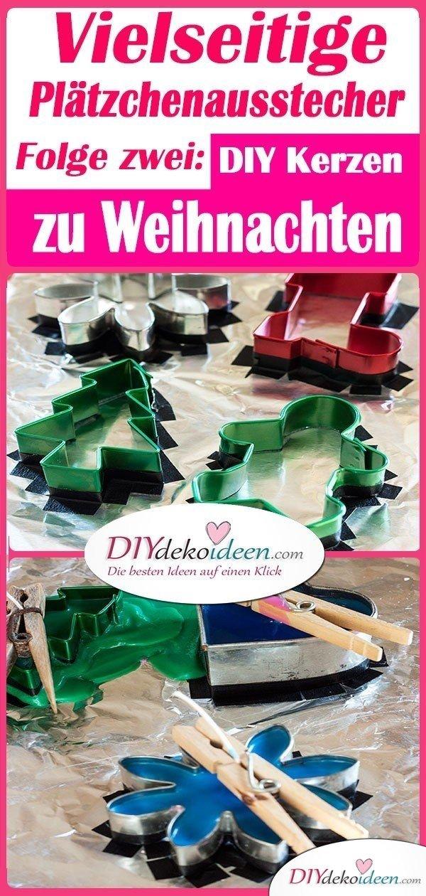 Vielseitige Plätzchenausstecher - Folge zwei: DIY Kerzen zu Weihnachten