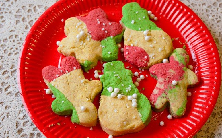 Gib etwas süße zu Weihnachten - Marmorplätzchen