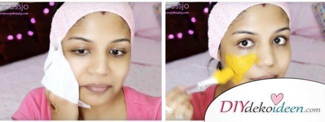 Gesichtsmaske gegen Akne