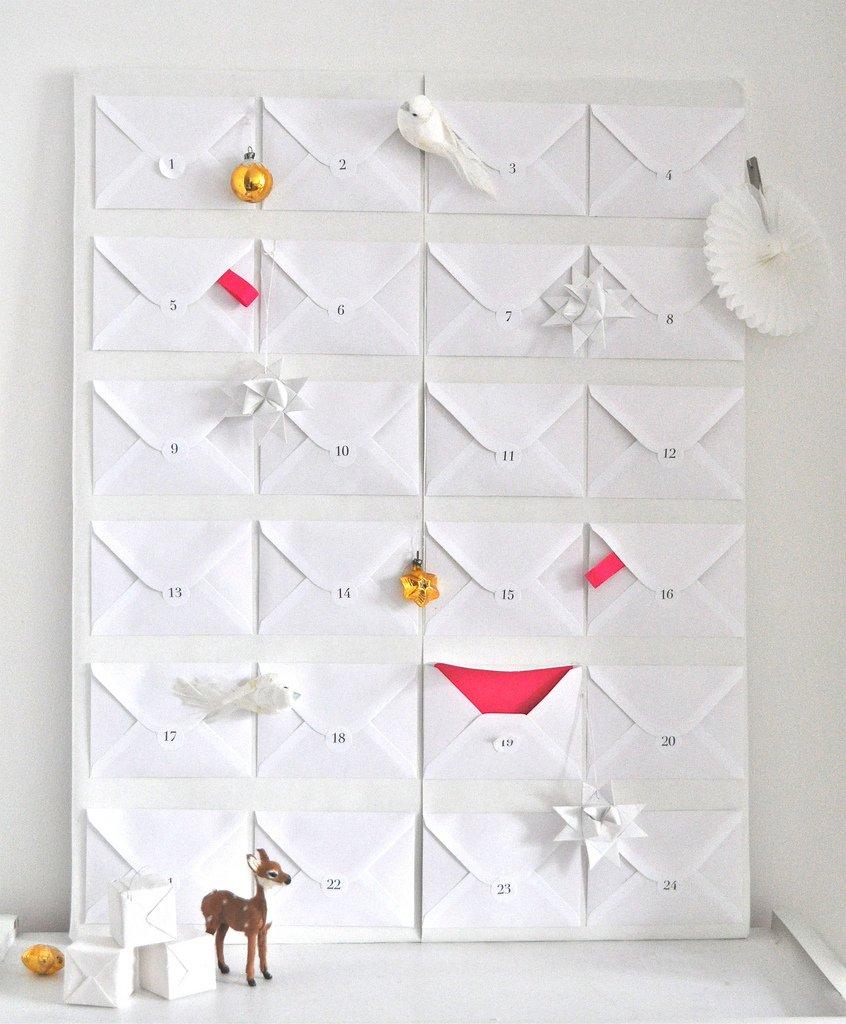 Zauberhafte Adventskalender, Briefumschlag Kalender