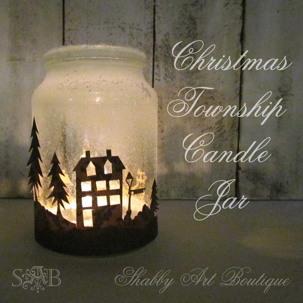 DIY Weihnachtsbeleuchtung - Städtchen in einem Einweckglas