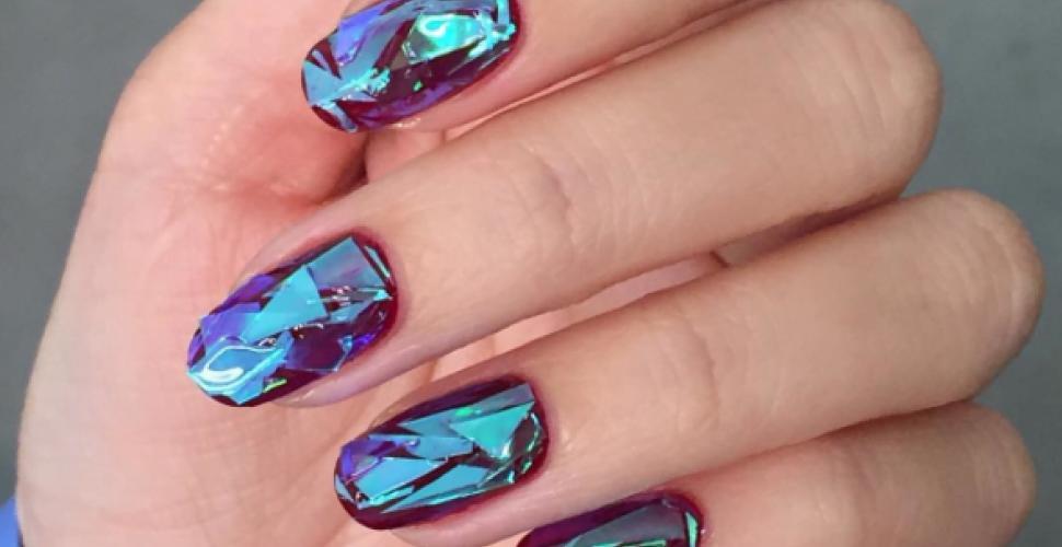 DIY Glass Nails – Lila, Grün und Blau