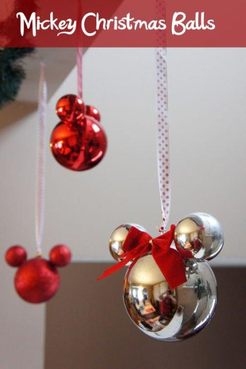 Disney Weihnachtsdeko selber machen-Mickey Mouse Christbaum-Kugel