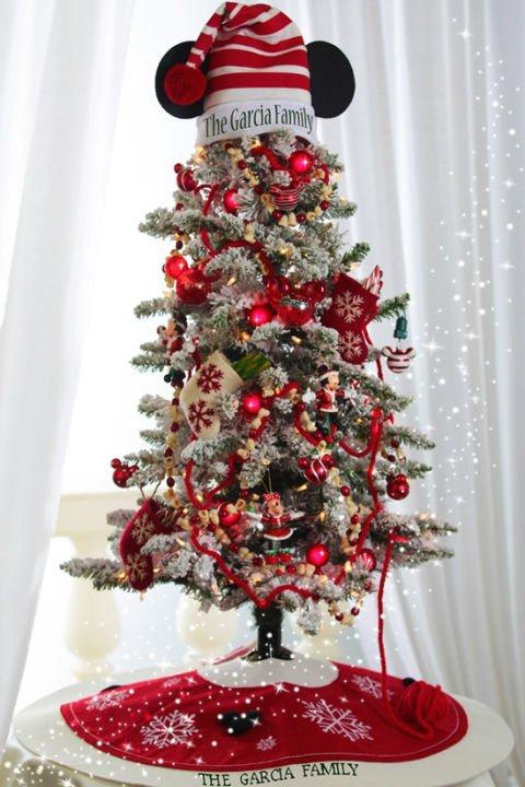 Disney Weihnachtsdeko selber machen-Mickey Mouse Weihnachtsbaum