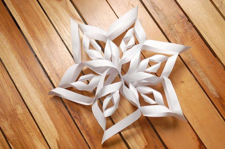 3D Schneeflocke leicht gemacht - Papier