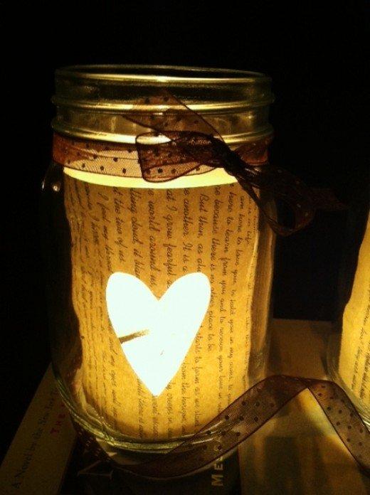 Einzweckglas mit Papier veredeln - Geschenke selber machen