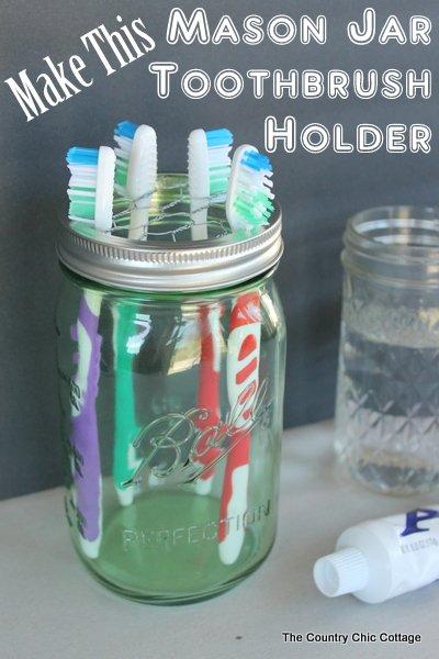 Zahnbürstenhalter - DIY Badezimmer Organisierung-Ideen