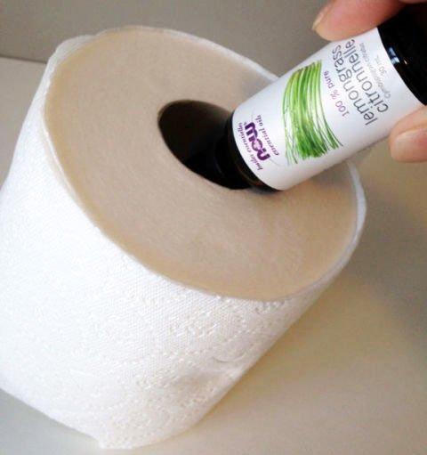 Lufterfrischer zum Selbermachen-Toilettenpapier als Raumduft verwenden