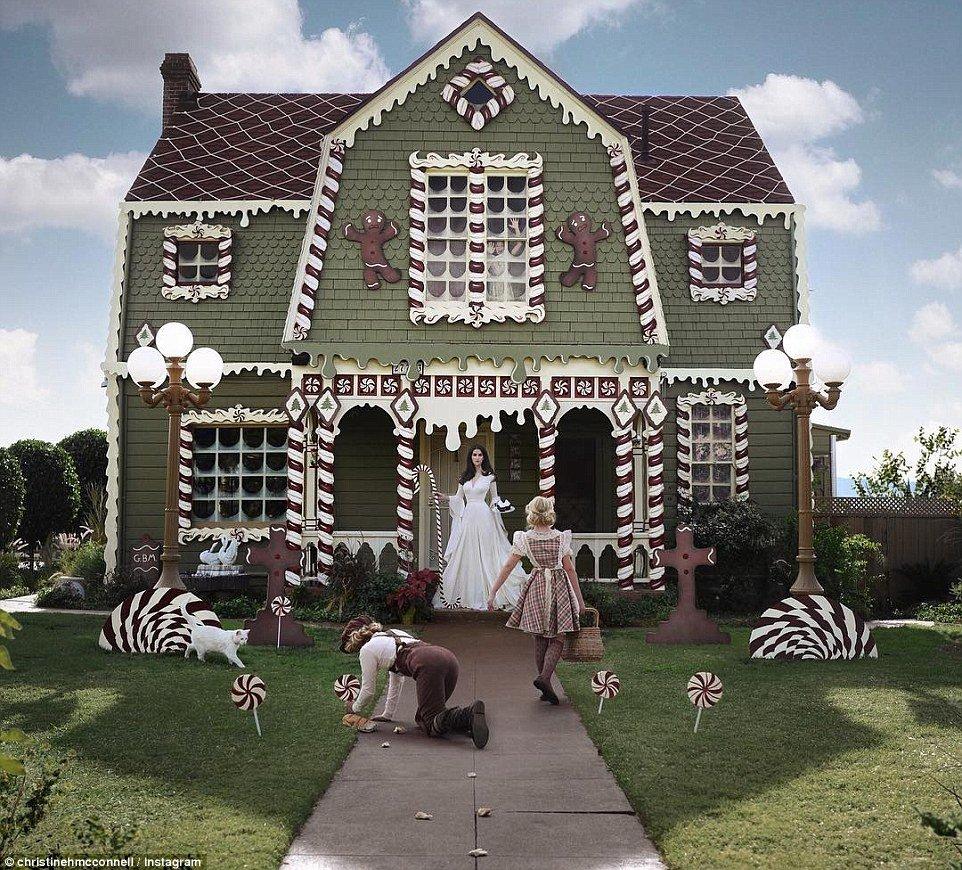 Lebkuchenhaus lebensgroß - kreative Ideen mit Lebkuchen
