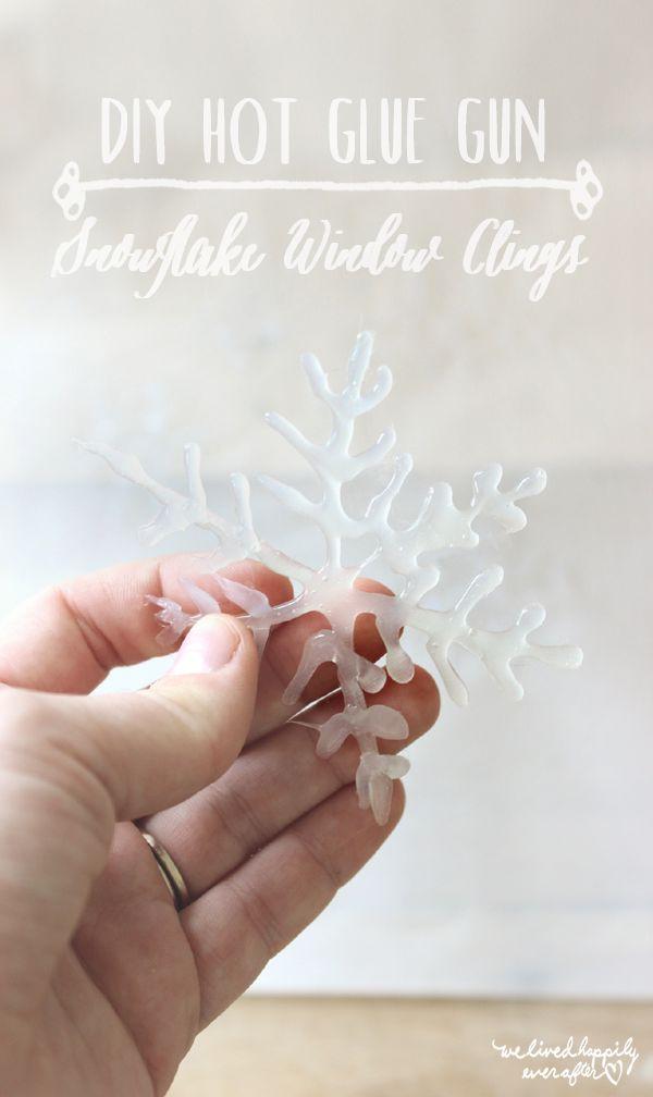 Begrüße Weihnachten mit diesen DIY glänzenden Schneeflocken aus Klebstoff - Schneeflocke aus Klebstoff
