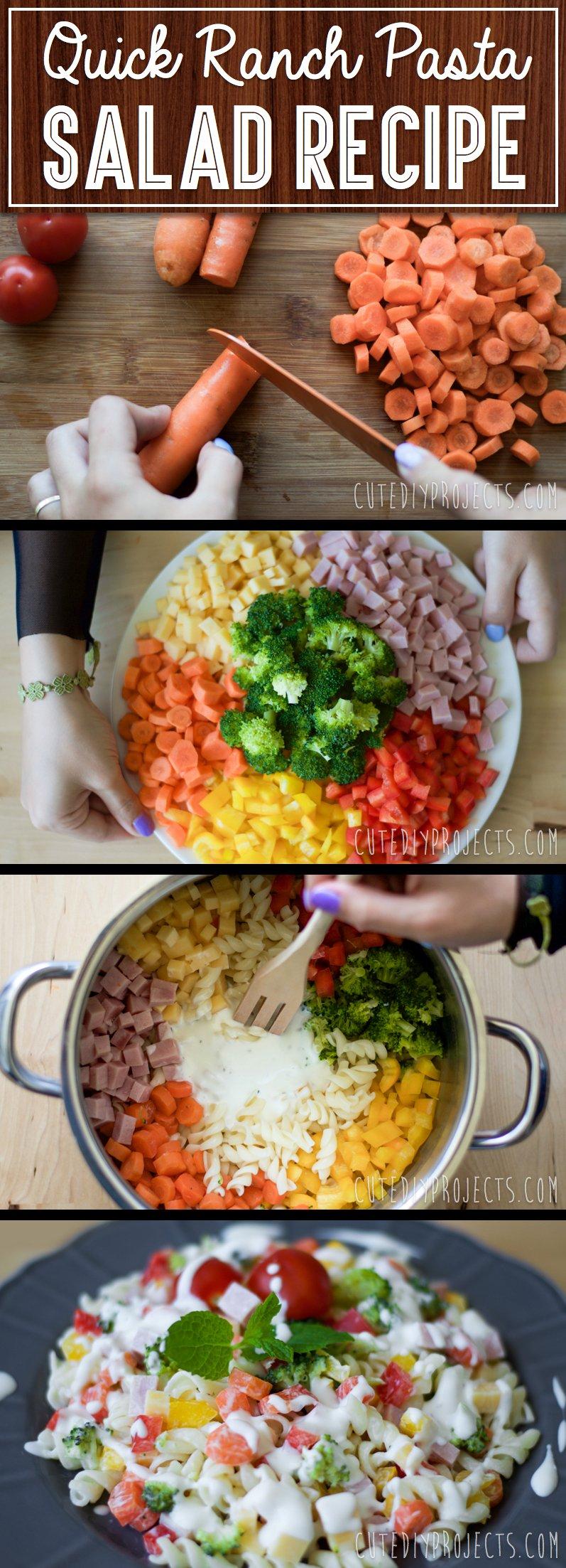 leckeren Ranch Nudelsalat-gesunde Ernährung hält dünn!