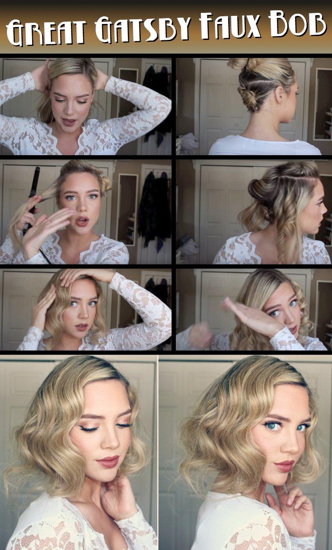 Gatsby Haarstyle zum Selbermachen