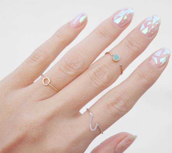 DIY Glass Nails-so sieht das Ergebnis aus- Nude Nails