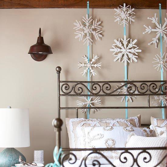 Weihnachtsdekorationen - Schneeflocken
