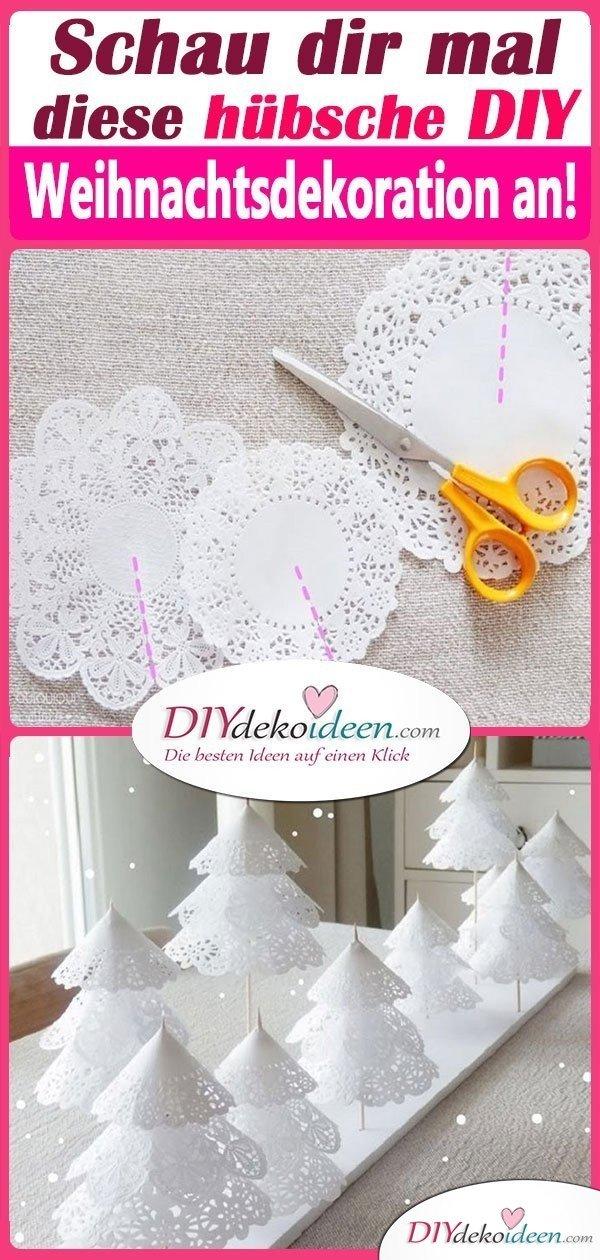 Schau dir mal diese hübsche DIY Weihnachtsdekoration an!