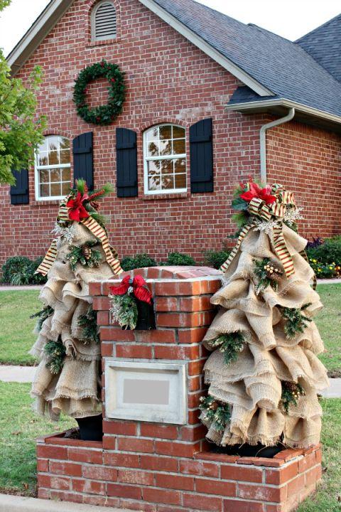 Weihnachtsbaum-Deko aus Jute selber machen
