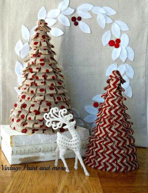 DIY Weihnachtdeko aus Jute-Weihnachtsbaum selber machen