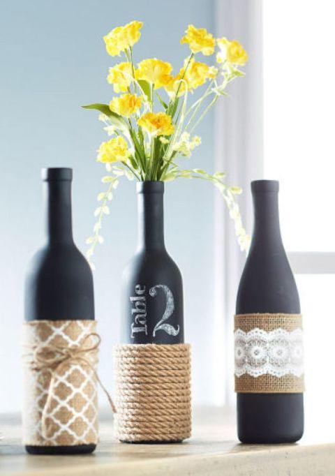 So kannst du die leeren Weinflaschen wiederverwenden - Tischnummern