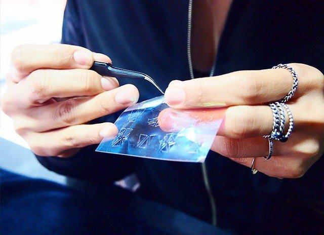 DIY Glass Nails – der beste Nagellacktrend des Jahres, Schablone