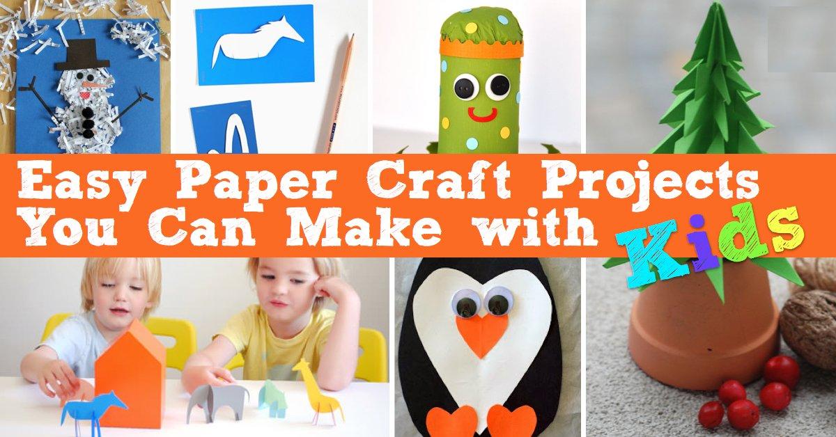 DIY Ideen aus Papier für Kinder - Bastelideen mit Kindern