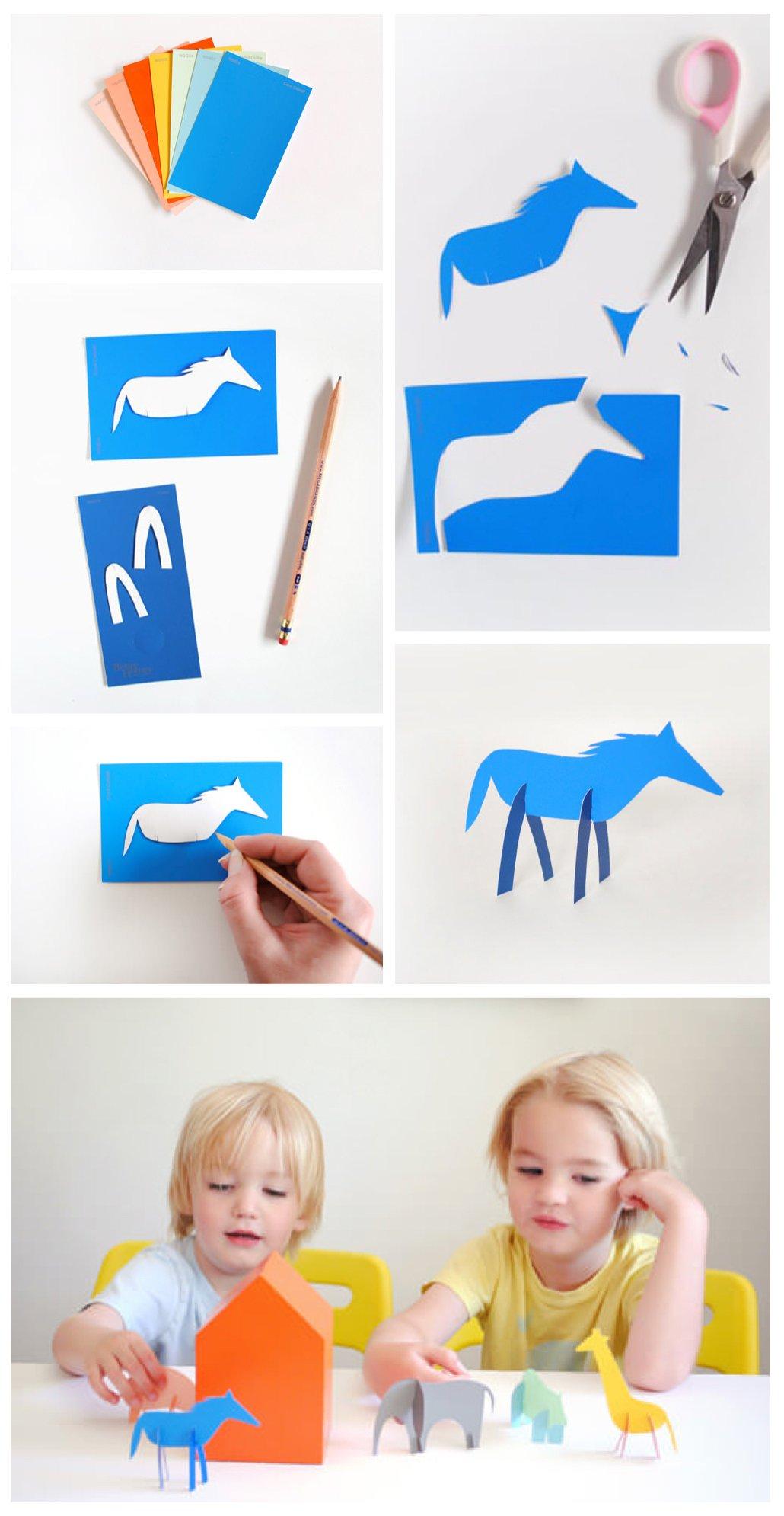 DIY Bastelideen mit Kindern-Basteln aus Karton