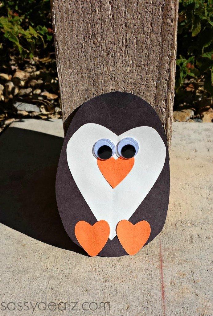 DIY Bastelideen aus Papier-Pinguin basteln mit Kindern