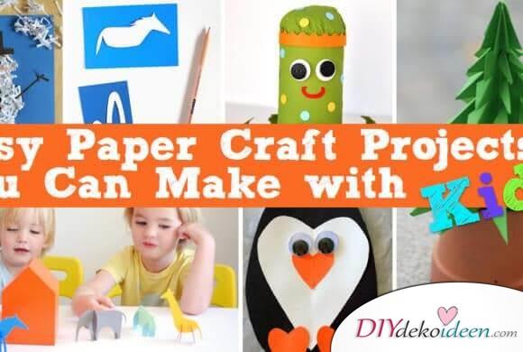 Basteln wir zusammen – DIY Ideen aus Papier für Kindern