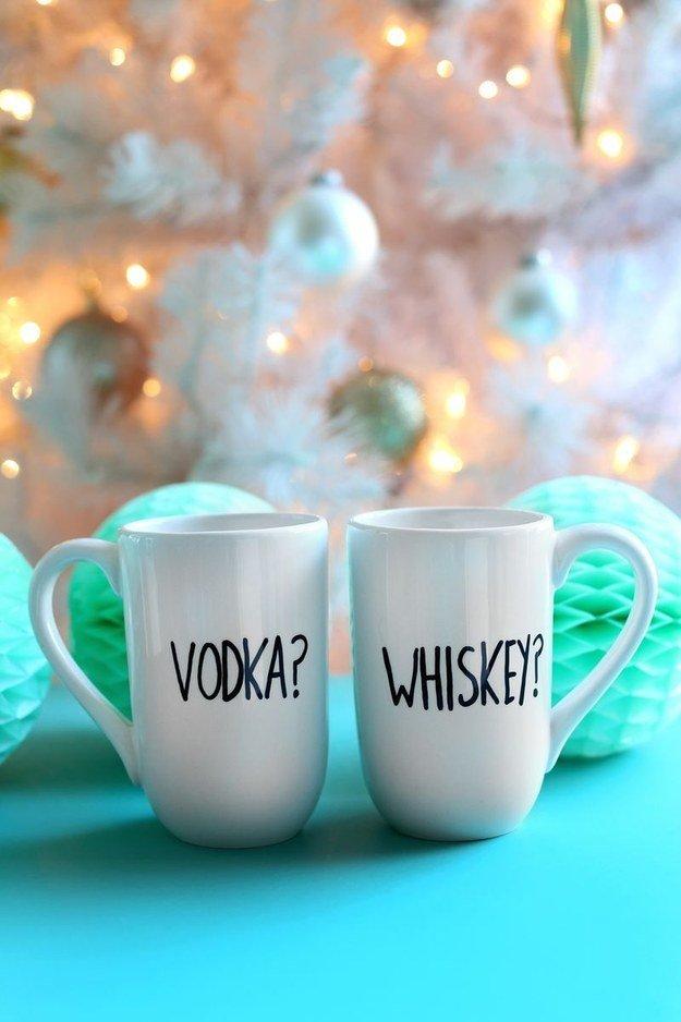 DIY Geschenkideen zu Weihnachten- Tassen beschriften