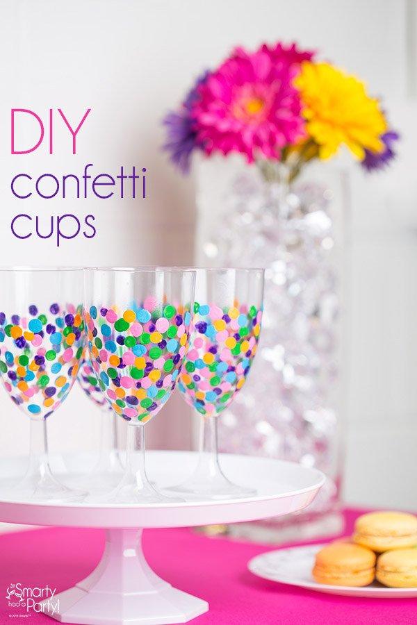 Geschenke selber machen - Confetti Gläser basteln