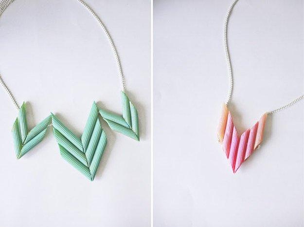 lustige Geschenkideen aus Nudeln - Halskette basteln