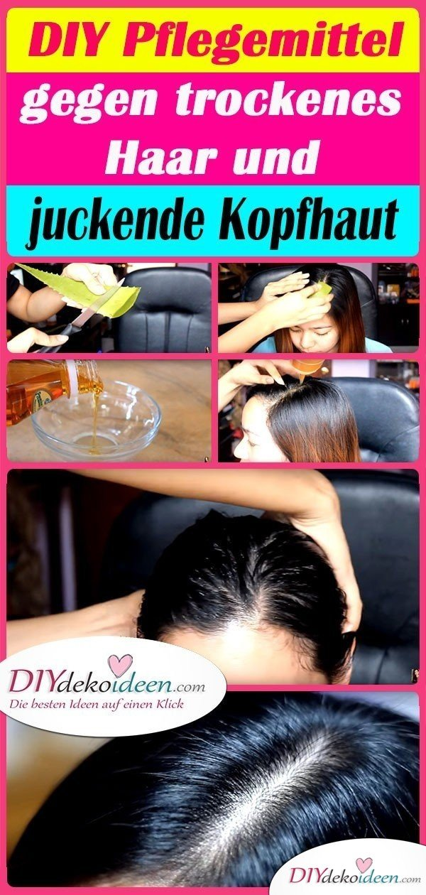 DIY Pflegemittel gegen trockenes Haar und juckende Kopfhaut