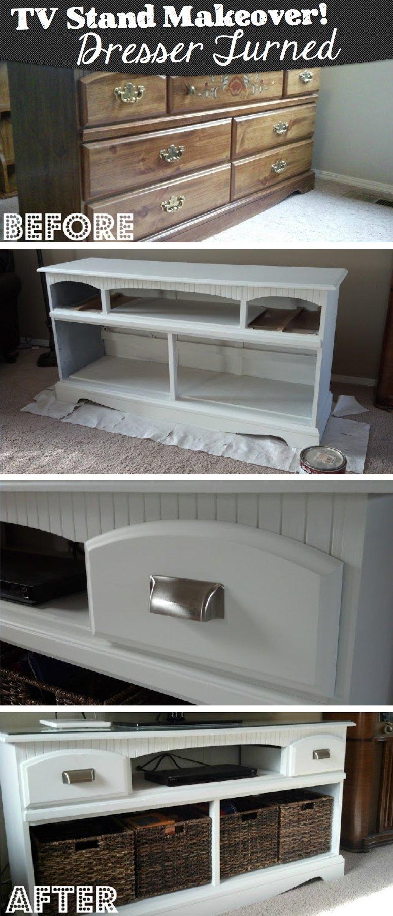Rustikale Kommode selber machen-Alte Möbel erneuern-DIY Bastelidee