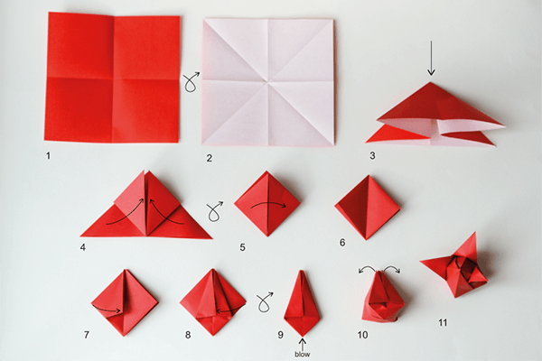 Tulpen aus Papier selber machen