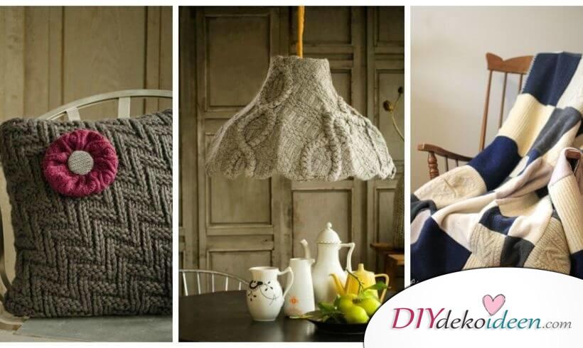 DIY Winterdekorationen und Geschenkideen aus alten Pullovern