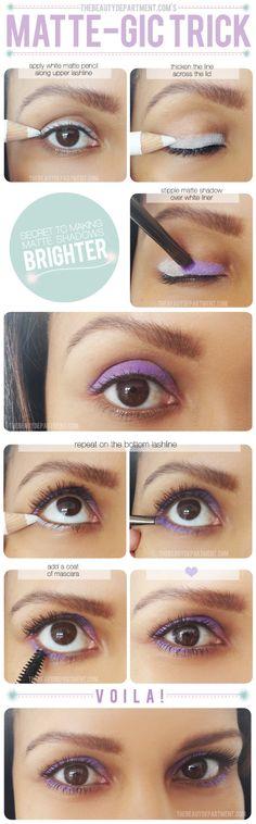 Lidschatten Make-up Ideen - Matt-Effekt