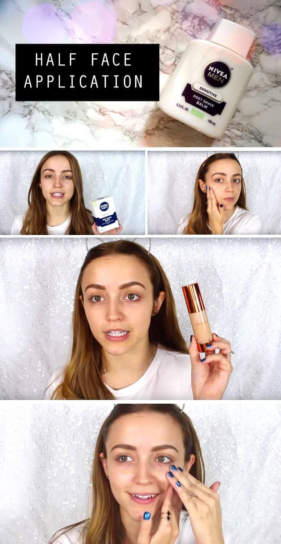 Gesichtsbalsam für glatte Haut - NIvea Men Produkt als Primer verwenden