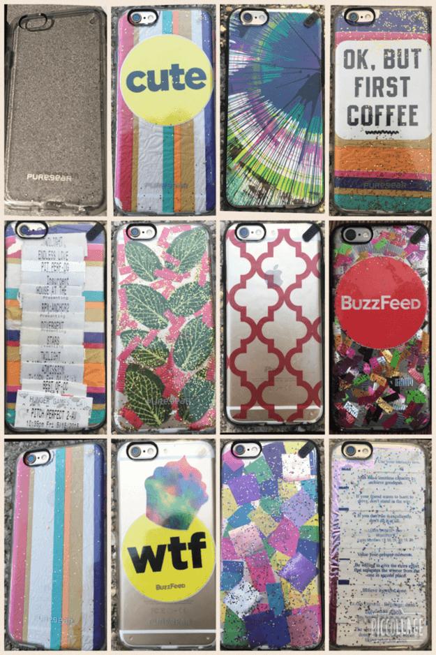 selbst gemachte Handyhüllen - Geschenk selber machen