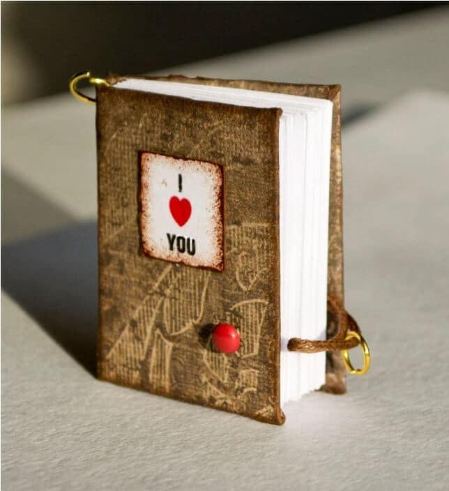 Mini Notizbuch selber machen - kreative Geschenkideen