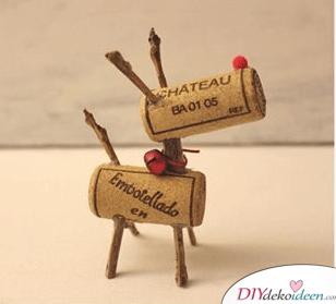 Kreative DIY Weinkorken Rentiere