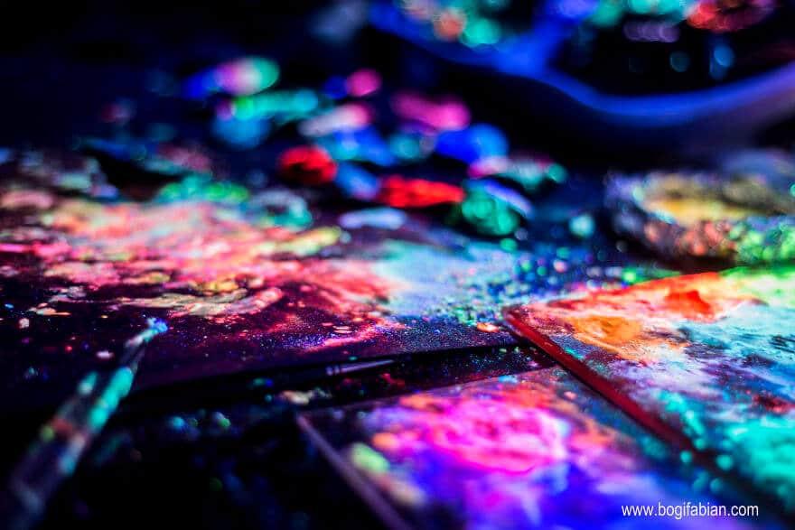 Leuchtende Wanddeko selber machen
