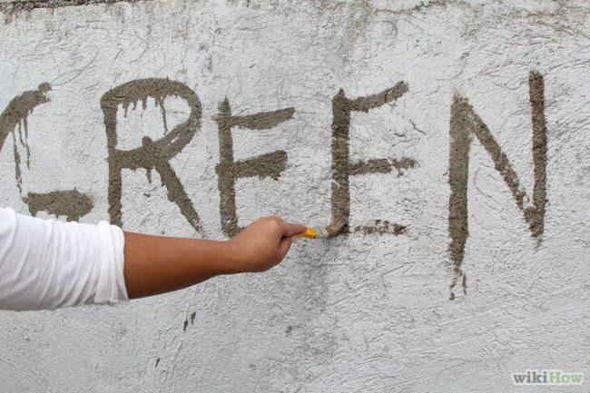 DIY Graffiti-Ideen aus Moos
