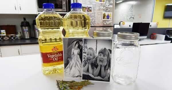 DIY Fotoeffekte- alte Bilder mit Öl verschönern