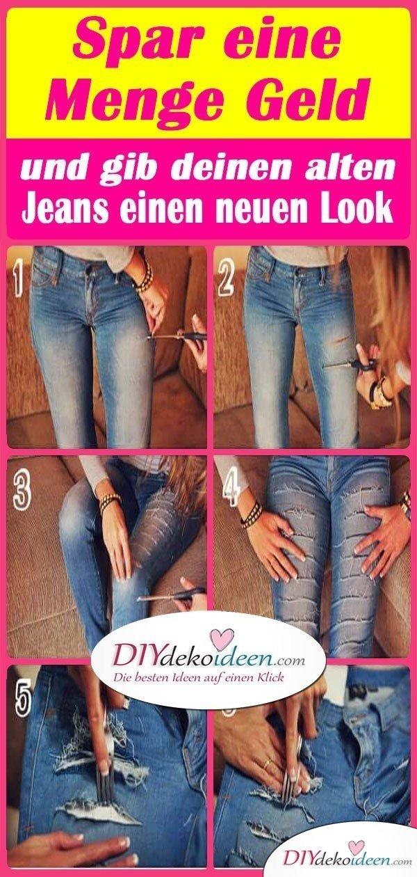 Spar eine Menge Geld und gib deinen alten Jeans einen neuen Look
