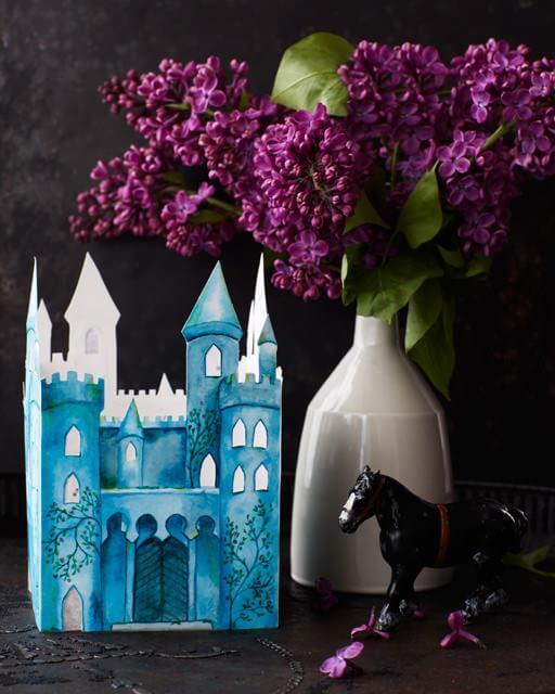 DIY leuchtende Burg zum Selbermachen