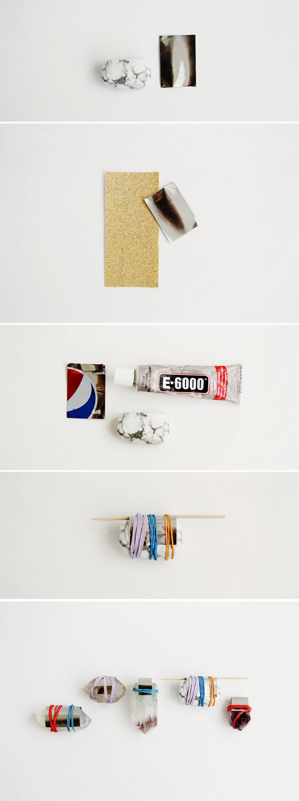DIY Schmuckprojekte - Edelstein Anhänger basteln