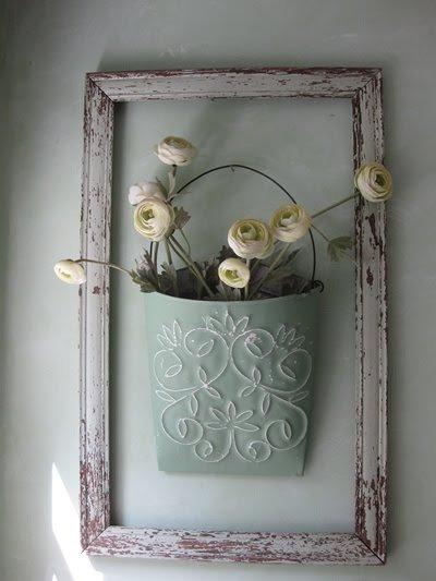 DIY Wanddeko Ideen mit Blumen