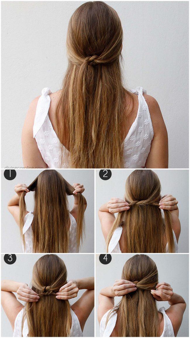 Keine Zeit – keine Sorge: DIY Frisur Ideen für den perfekten Look im Nu - Knotted Half Updo
