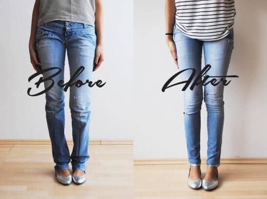 Jeans Design-Ideen, Stretch Jeans selber machen